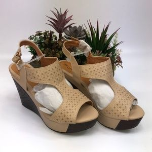 Lady Godiva Women's Open Toe Wedge Sandals Size 6